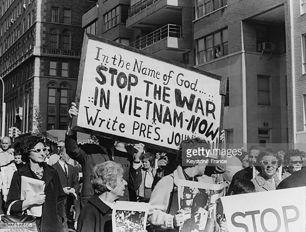 Protest Against The War In Vietnam In Usa
