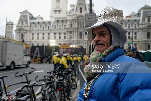 protest attemts to disrupt traditional mummers parade - mummers parade stock pictures, royalty-free photos & images