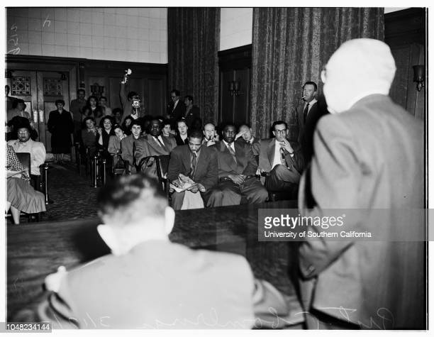 Protest bombings 17 March 1952 Milton LevisonCecil M ParksMayor Fletcher BowronG Dubois TolbertBates BoothWilliam ParkerAlice Murphy