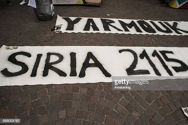 Protest demonstration against Syria in Milan