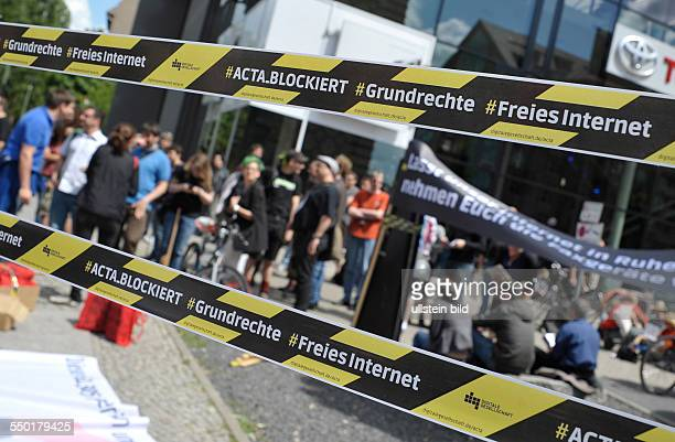 Protest gegen die bevorstehende Umsetzung des ACTA Abkommens in Berlin