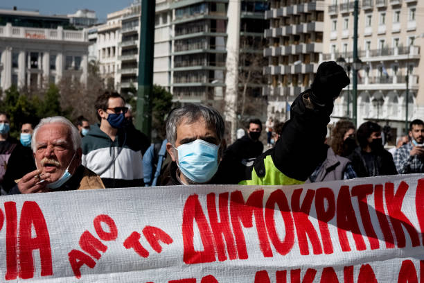 GRC: Demonstration In Support With Dimitris Koufontinas In Athens