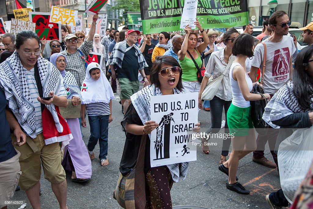 USA - Pro-Palestine Rally in Support of Gaza in New York City : News Photo