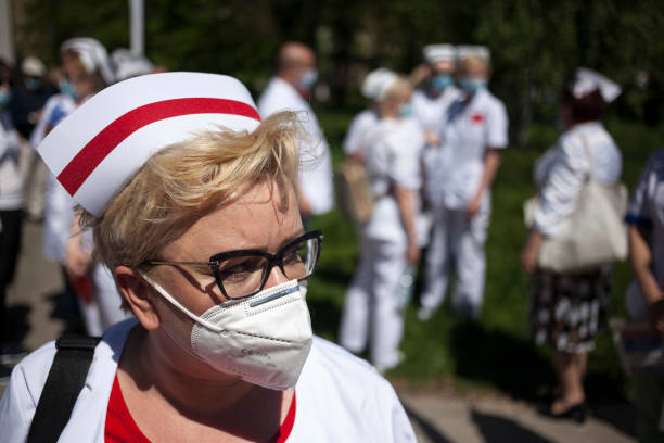 POL: Protest Of Nurses And Midwivesnin Warsaw