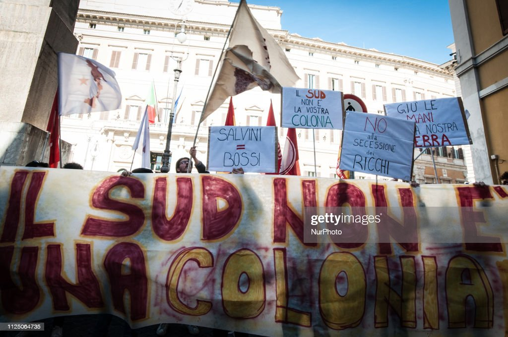 ITA: Basic Union Of Trade Unions Protest In Rome