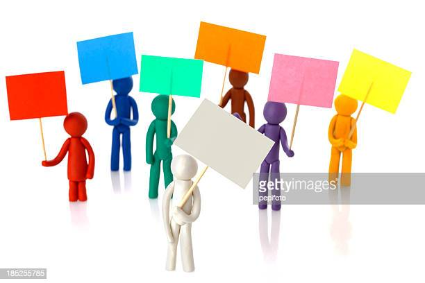 protest people - striker stock pictures, royalty-free photos & images