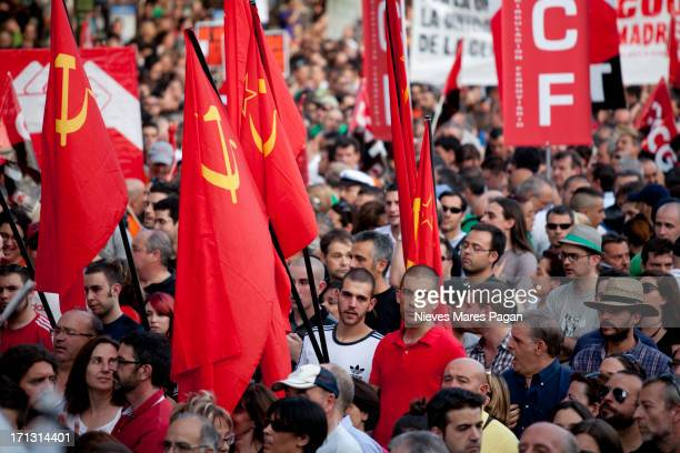 protesto - bandeira comunista - fotografias e filmes do acervo