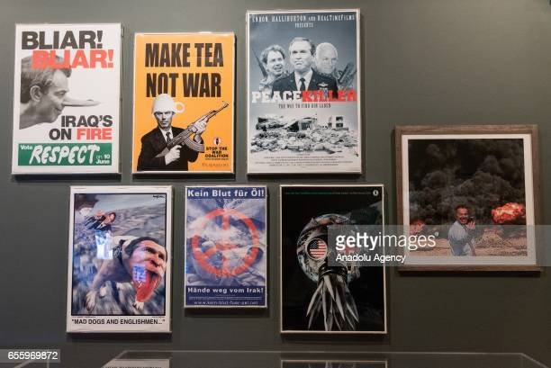 Protest posters feature in the Imperial War Museum London People Power Fighting for Peace the UKs first major exhibition to explore the evolution of...