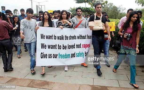 A protest rally was taken out which was attended by various film and television actor and actresses namely Sonam Kapoor Sona Mahapatra Karan Veer...