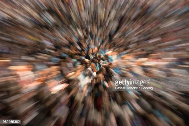 protestant celebration at the zenith of strasbourg. worshippers. strasbourg. france. - cult stock pictures, royalty-free photos & images