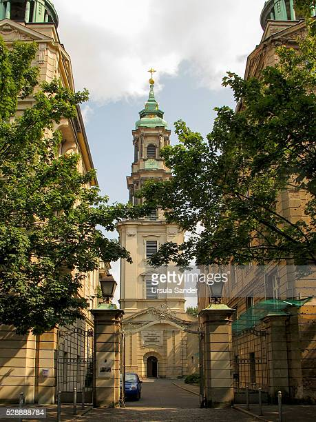 protestant church sophienkirche in the suburb of spandau, berlin-mitte, germany - spandau stock pictures, royalty-free photos & images
