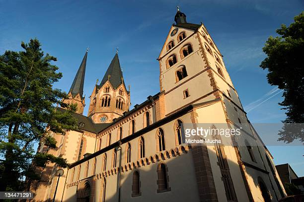 protestant marienkirche, church of st. mary, gelnhausen, hesse, germany, europe - michael mucha stock-fotos und bilder