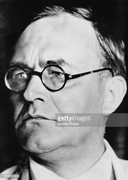 Protestant theologian Professor Karl Barth who has returned to his native Switzerland having been expelled from Germany for opposing National...