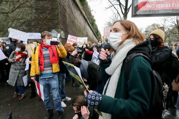 FRA: Demonstration In Paris In Support Of Alexei Navalny