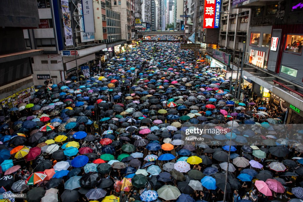 Demonstrators Attend Anti-Government Protest In Hong Kong : News Photo