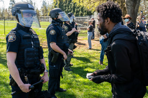 OR: Protestors Gather At Portland, OR Park Where Police Shot And Killed Man