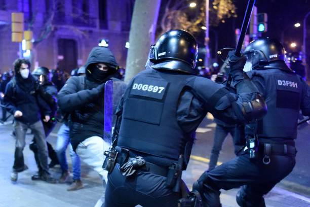 ESP: Protest For Pablo Hasel In Barcelona