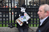 london england protester dressed as charlie