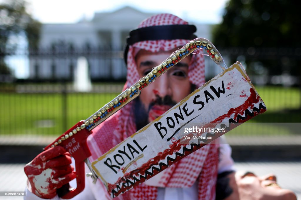 Activists March From White House To State Dep't To Protest Khashoggi Murder : News Photo