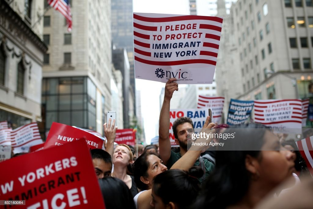 Rally Against President Donald J. Trump in New York : News Photo