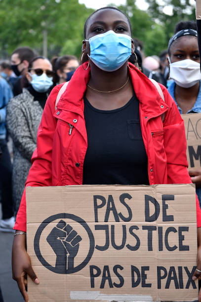 FRA: Rally In Support Of George Floyd And Against Police Violence
