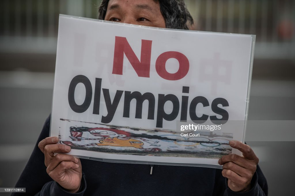 Protesters Call For Tokyo Olympics To Be Cancelled : News Photo