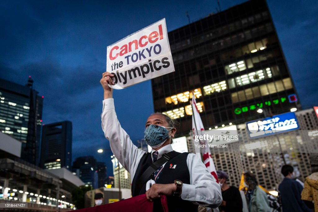 Protesters Rally Against The Tokyo Olympic Games : ニュース写真