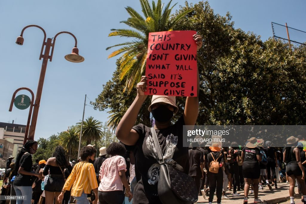 NAMIBIA-CRIME-DEMONSTRATION : News Photo
