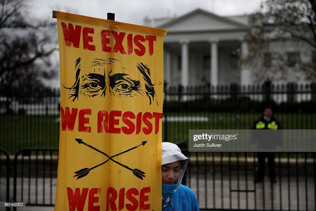 Standing Rock Sioux Tribe Rallies In Washington DC For Tribal Rights : News Photo
