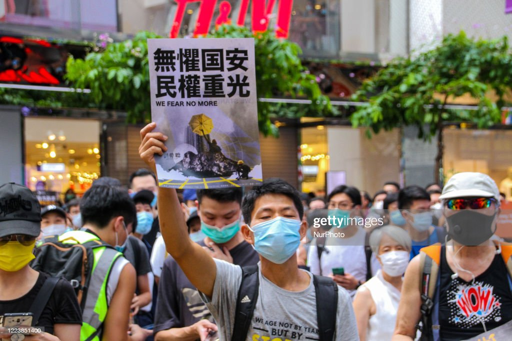 Protests on the Anniversary of Hong Kong's Handover to China amid New Security Law : Nieuwsfoto's