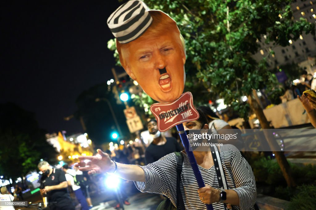 Protests Held In Washington, DC In Response To Republican National Convention : News Photo