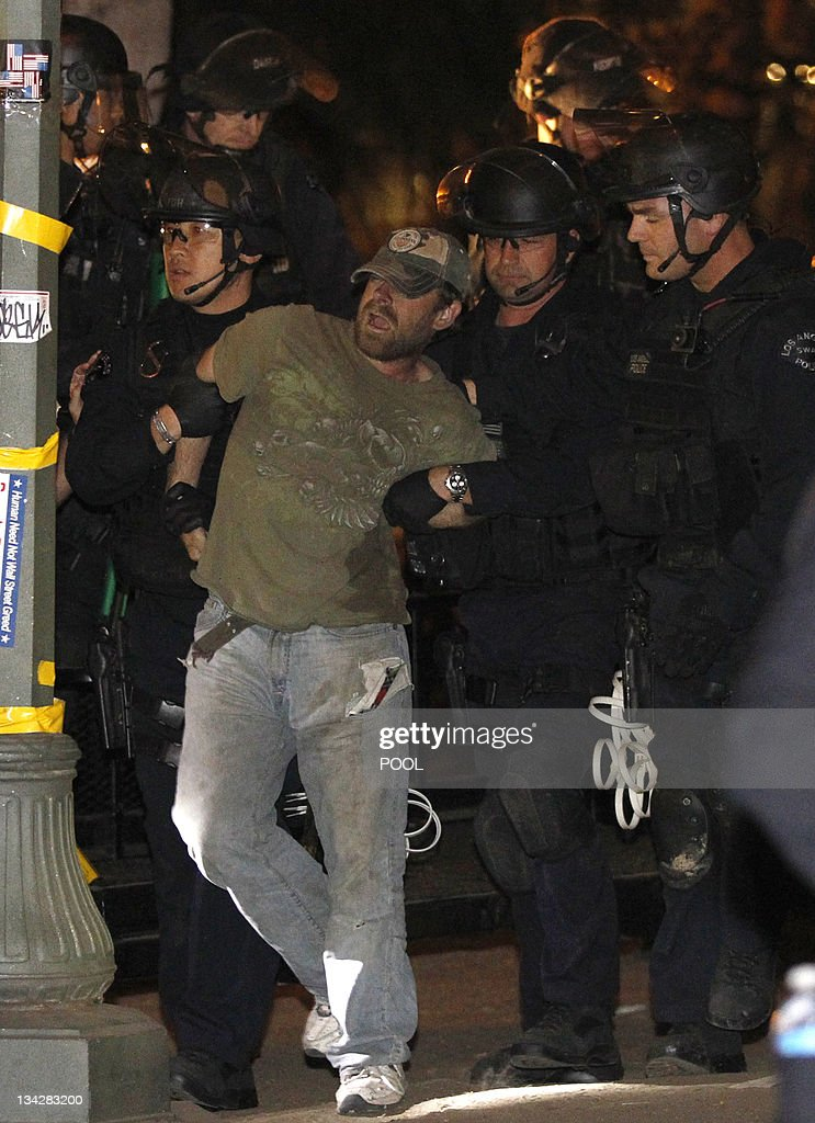 A protester is arrested as Los Angeles p : News Photo