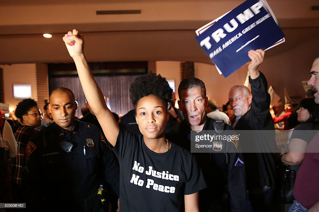 GOP Presidential Front Runner Donald Trump Holds Rally In Waterbury, Connecticut : News Photo