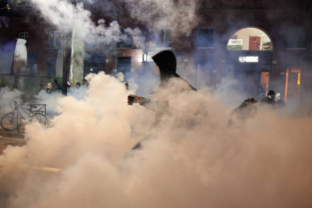 FRA: 4th Protest Against The 'Global Security Law' Ends In Tear Gas