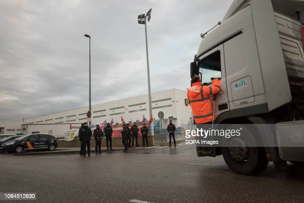 A protester seen informing a carrier driver about the strike and prevents him from accessing the warehouse The workers of the largest Amazon...
