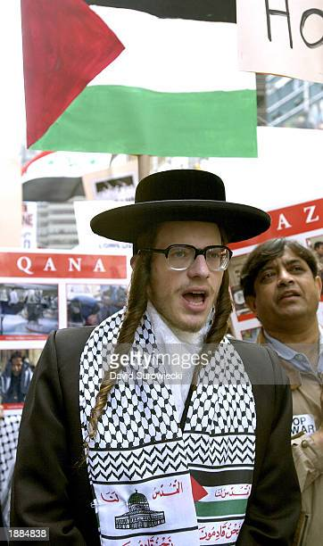 A protester shouts during an antiwar rally organized to demand an end to the USled war in Iraq March 29 2003 in New York City More than 1000 people...