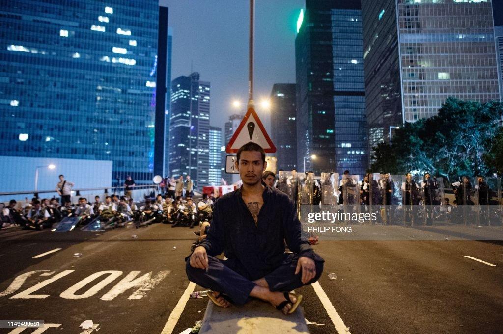 TOPSHOT-HONGKONG-politics-CHINA : News Photo