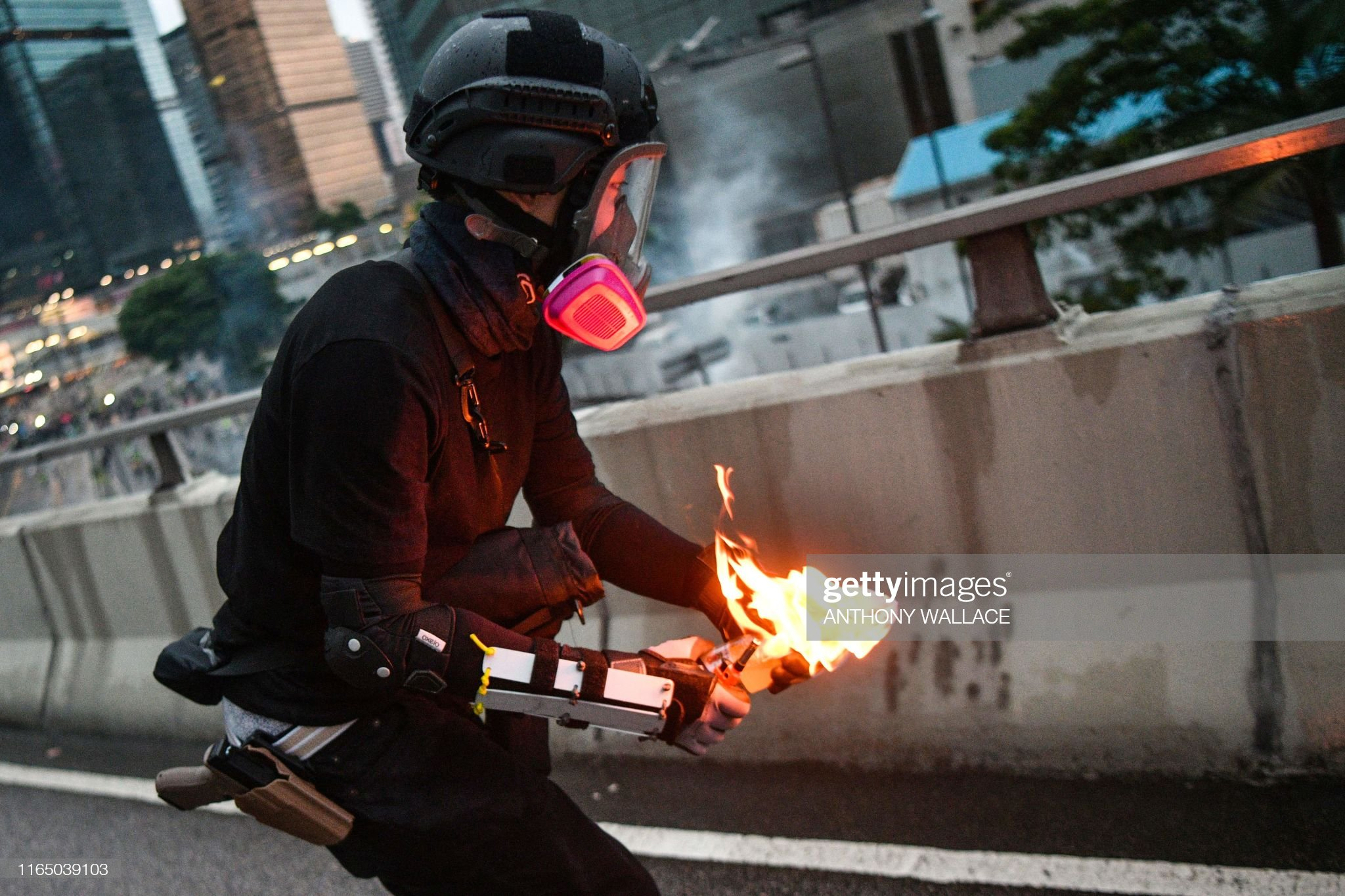 TOPSHOT-HONG KONG-CHINA-POLITICS-UNREST : News Photo
