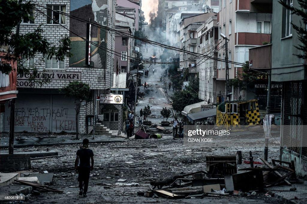 TURKEY-SYRIA-UNREST-PROTEST : News Photo