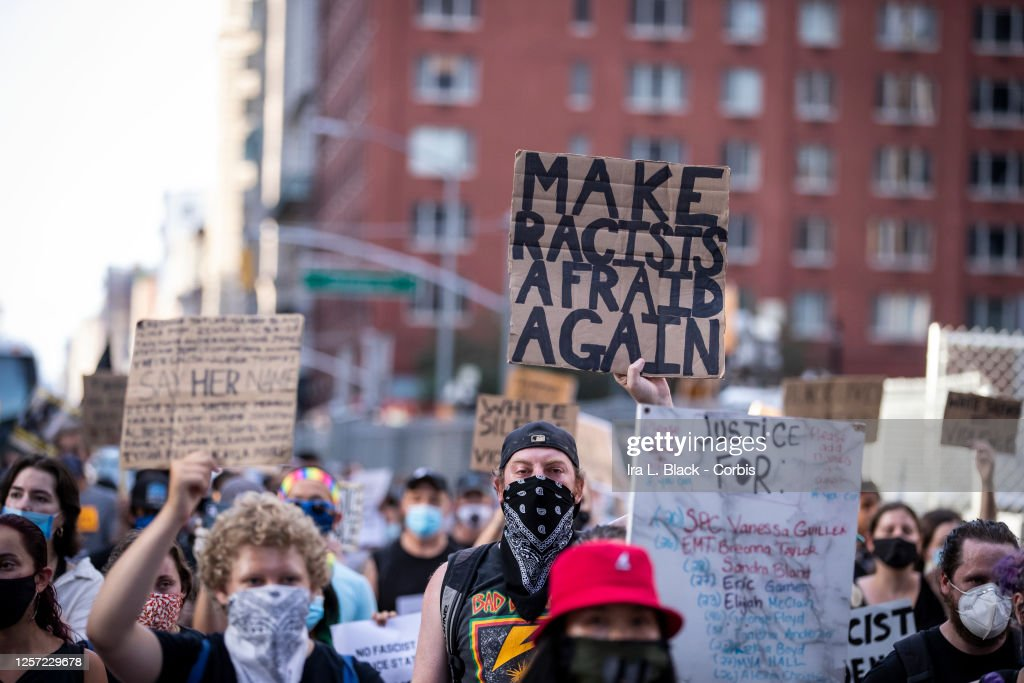 News - George Floyd Protest Trump/Pence Out Now - New York City : News Photo