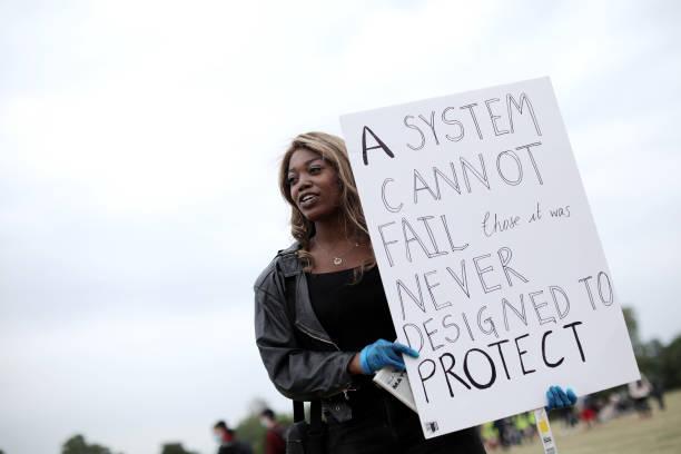 GBR: Black Lives Matter Movement Inspires Protest In London