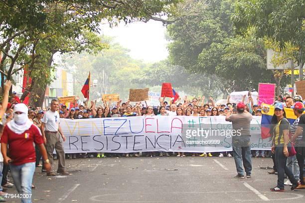 Protester con Banner e insegne