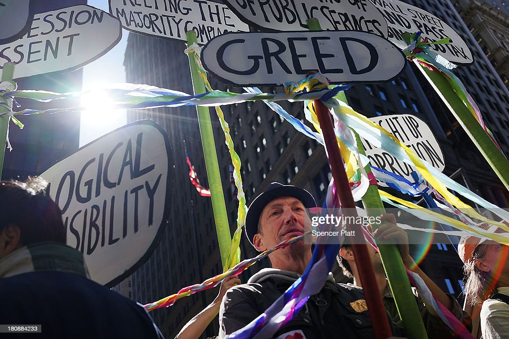 Occupy Wall Street Activists Mark 2 Year Anniversary Of Movement : News Photo