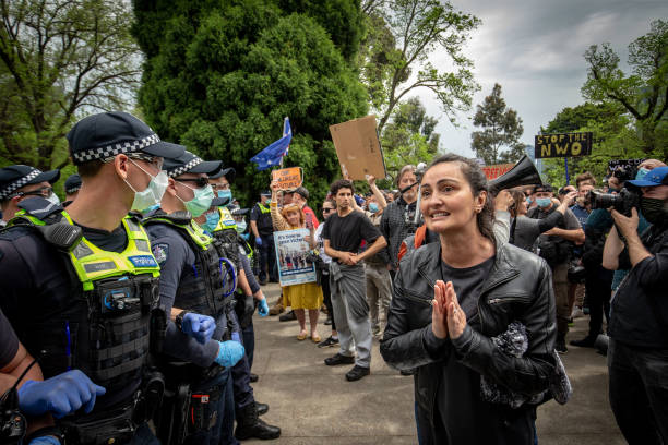 AUS: Protesters Rally In Melbourne Calling For End To Victoria's Lockdown Restrictions