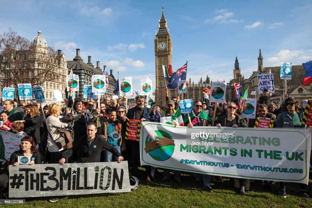 One Day Without Them Demonstration Takes Place In Westminster : News Photo