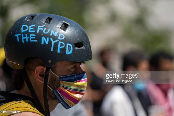 Protesters at a rally calling for police reform lead by New York City Public Advocate Jumaane Williams on June 8, 2020 in New York City. Protesters...