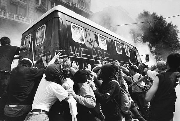 ITA: (GRAPHIC CONTENT) July 2001: Protests At Genoa G8 Summit