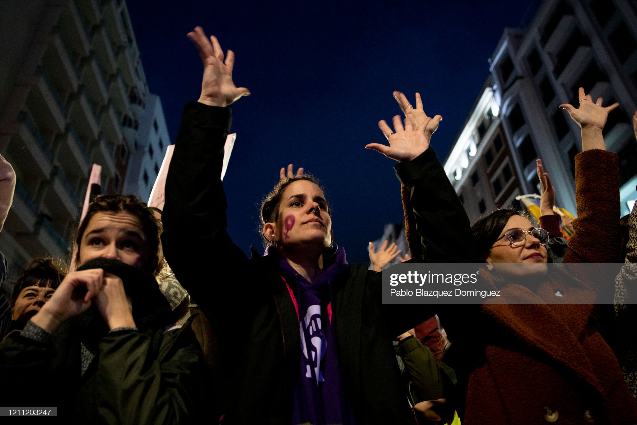 protesters-attend-a-demonstration-during-international-womens-day-on-picture-id1211203247