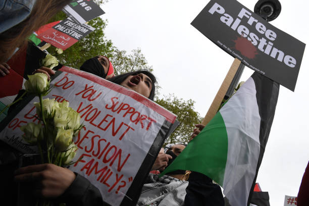 GBR: Londoners Show Support For Palestinians