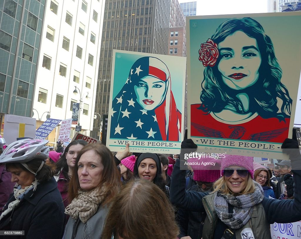 Women's march in New York : News Photo